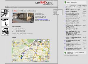 Routendarstellung als Overlay in der Karte und als Text
